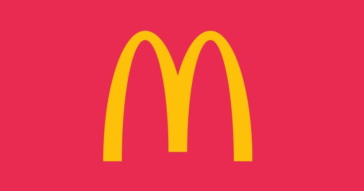 The yellow M of Mcdonalds sits on a red background to show that IELTS is a franchise and to assess the question British Council vs IDP?