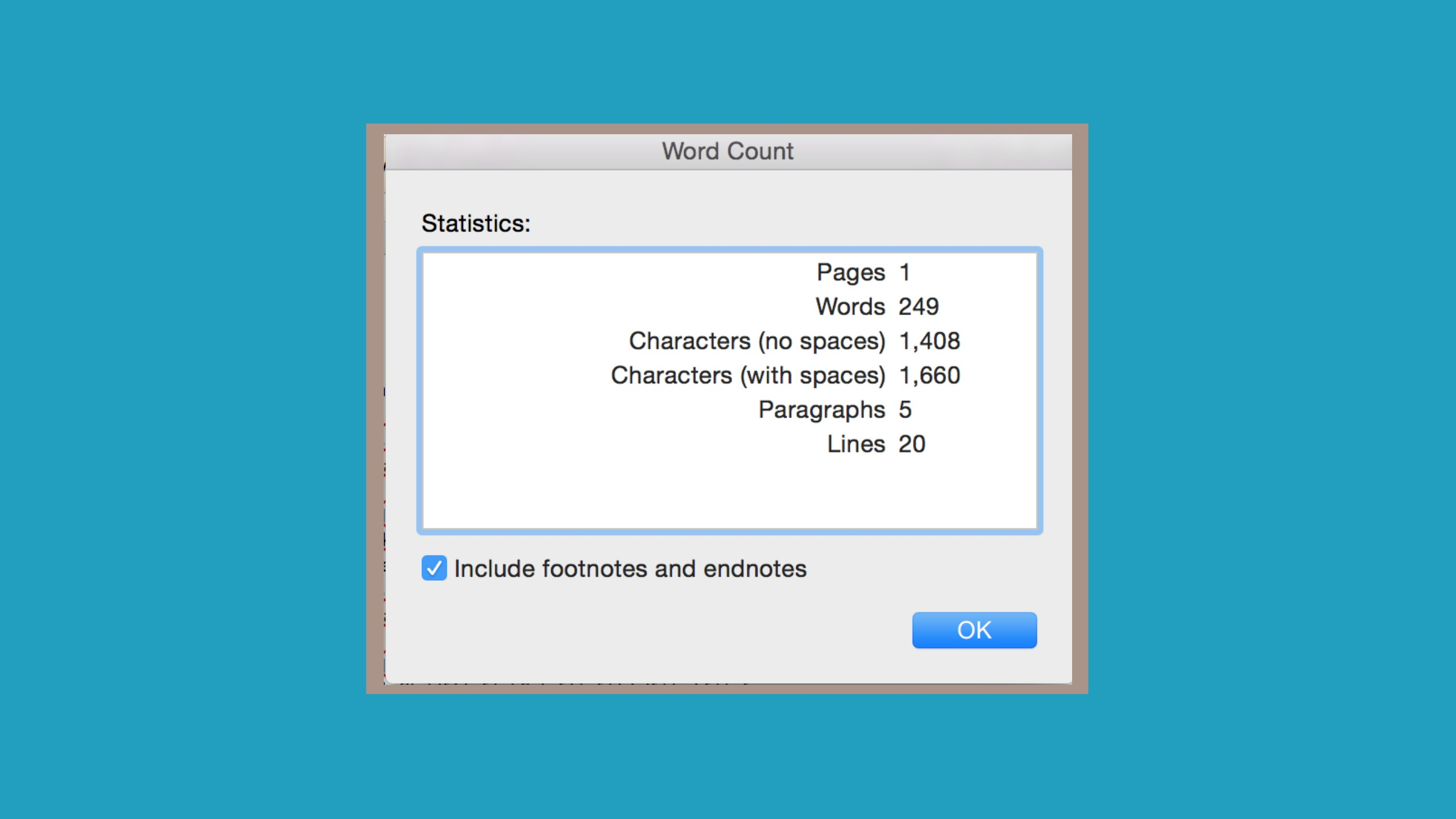 A screenshot of a Microsoft word count counter showing 249 words signifies changes to IELTS Word Count Rules