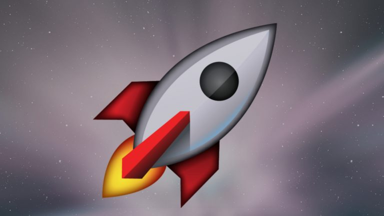 A rocket on a space background symbolises the importance of practicing with these authentic 100 IELTS essay topics
