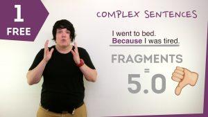 A thumbnail photo for a video that teaches about IELTS complex sentences