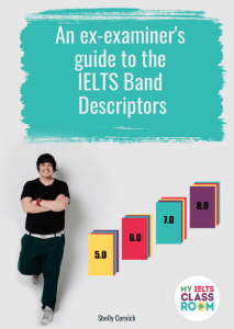 "Front cover of the book ""An ex-examiner's guide to the IELTS band descriptors"""