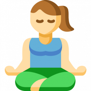 A woman sitting in a yoga position signifies an IELTS cue card about habits