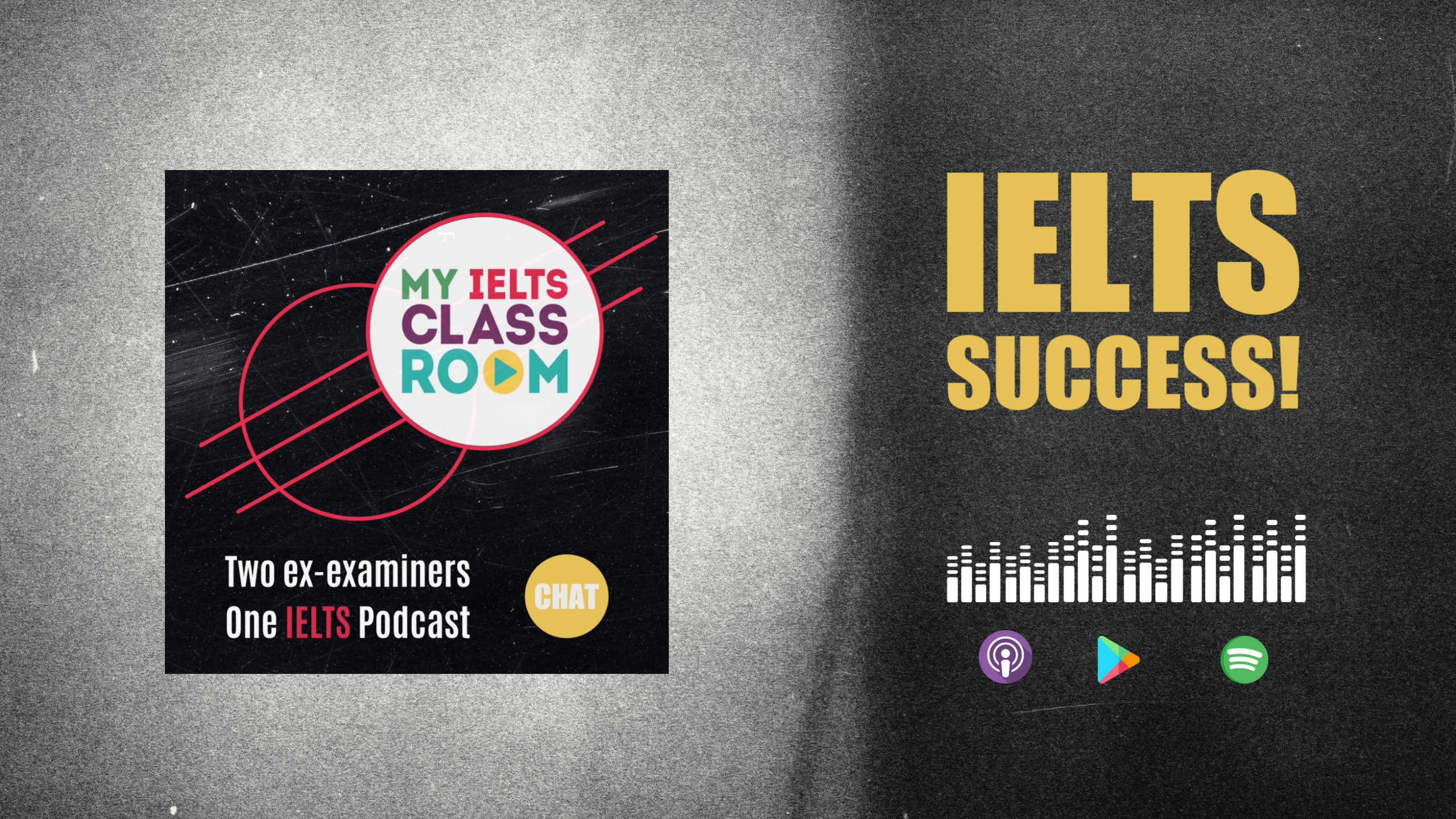A podcast front cover that says The IELTS Student Success