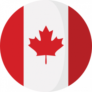 A Canadian flag to show IELTS success Canada