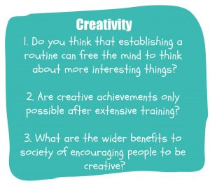 IELTS Speaking Part 3 questions - creativity