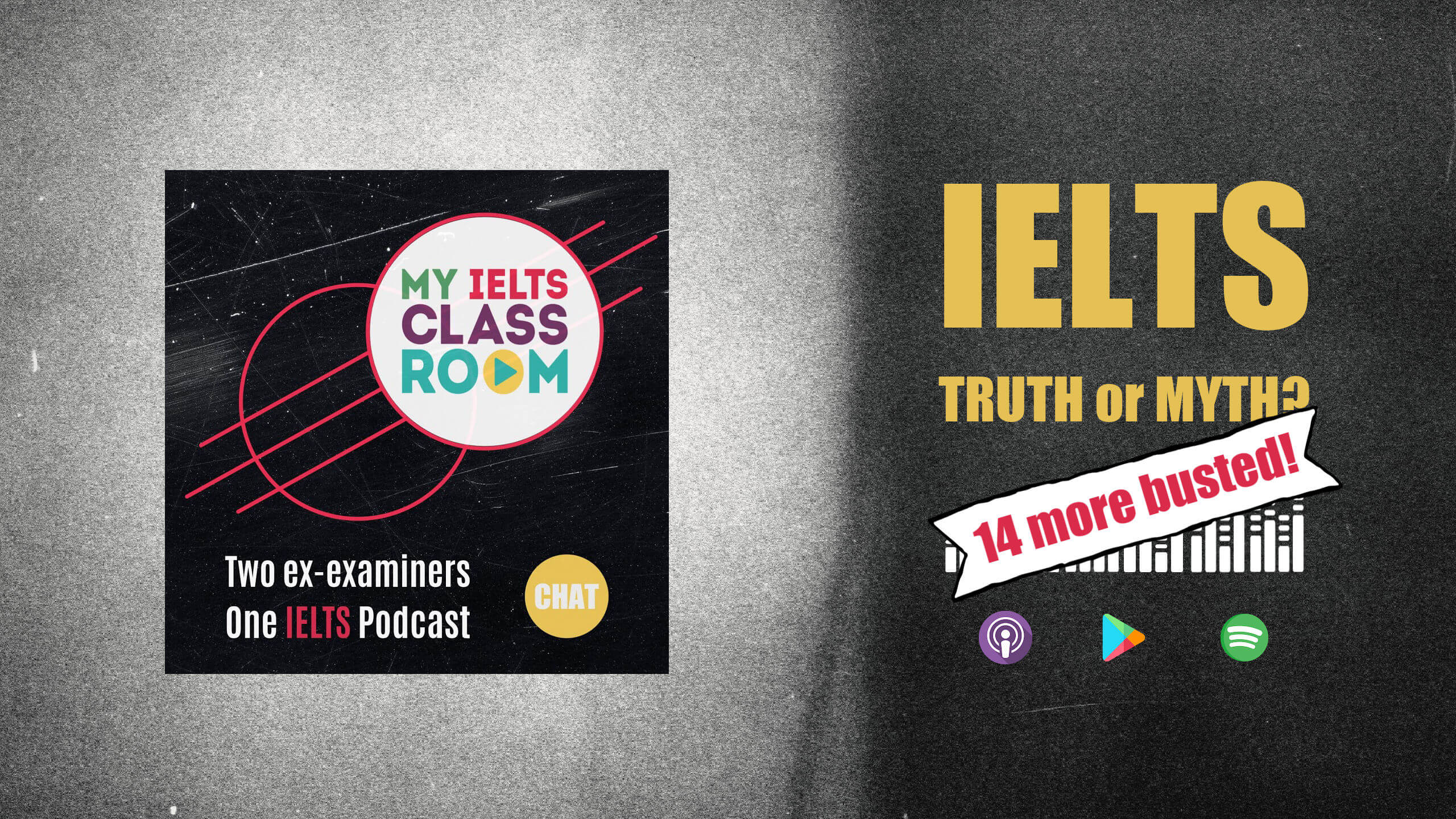 A podcast front cover that says IETS Myths - 14 more busted