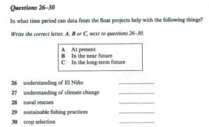 Practice 3: Cambridge Book 7, Test 3, Section 3